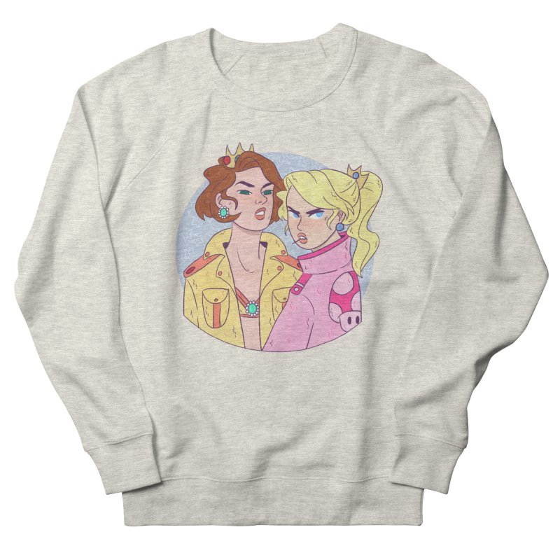 Peach and Daisy Men's French Terry Sweatshirt by ArtbyMoga Apparel Shop