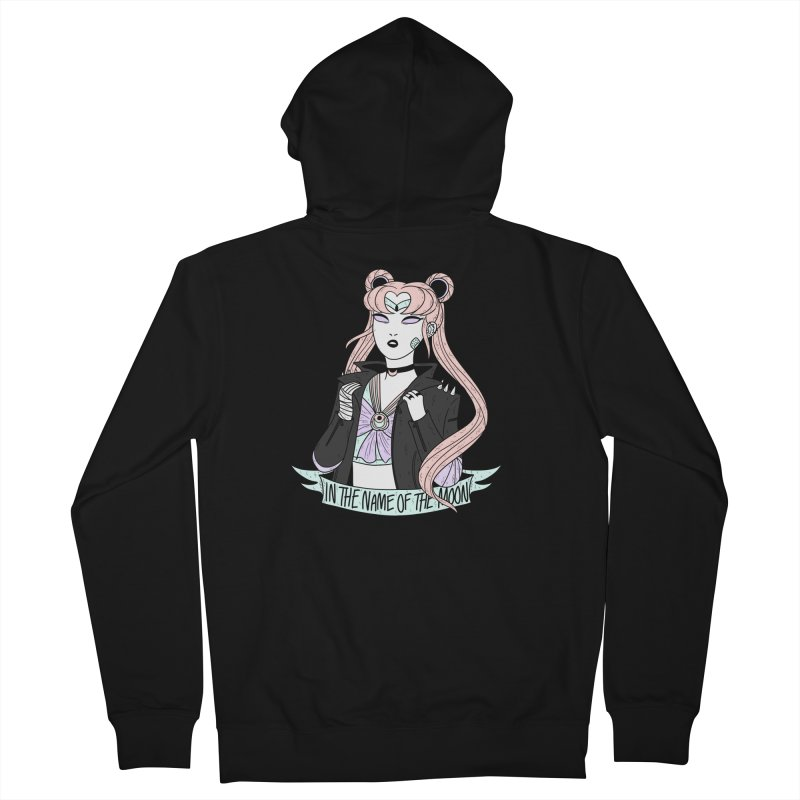 Pastel Goth Sailor Moon Men's French Terry Zip-Up Hoody by ArtbyMoga Apparel Shop