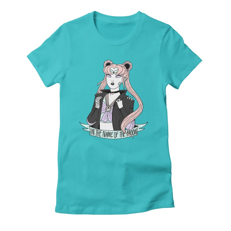 Pastel Goth Sailor Moon Women's Fitted T-Shirt by ArtbyMoga Apparel Shop