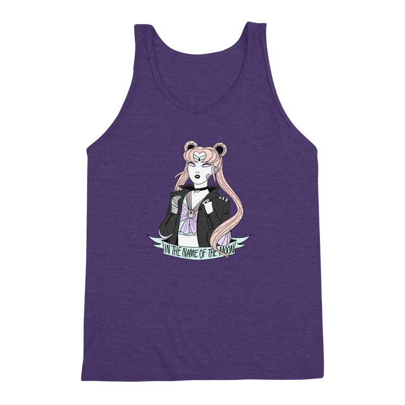 Pastel Goth Sailor Moon Men's Triblend Tank by ArtbyMoga Apparel Shop