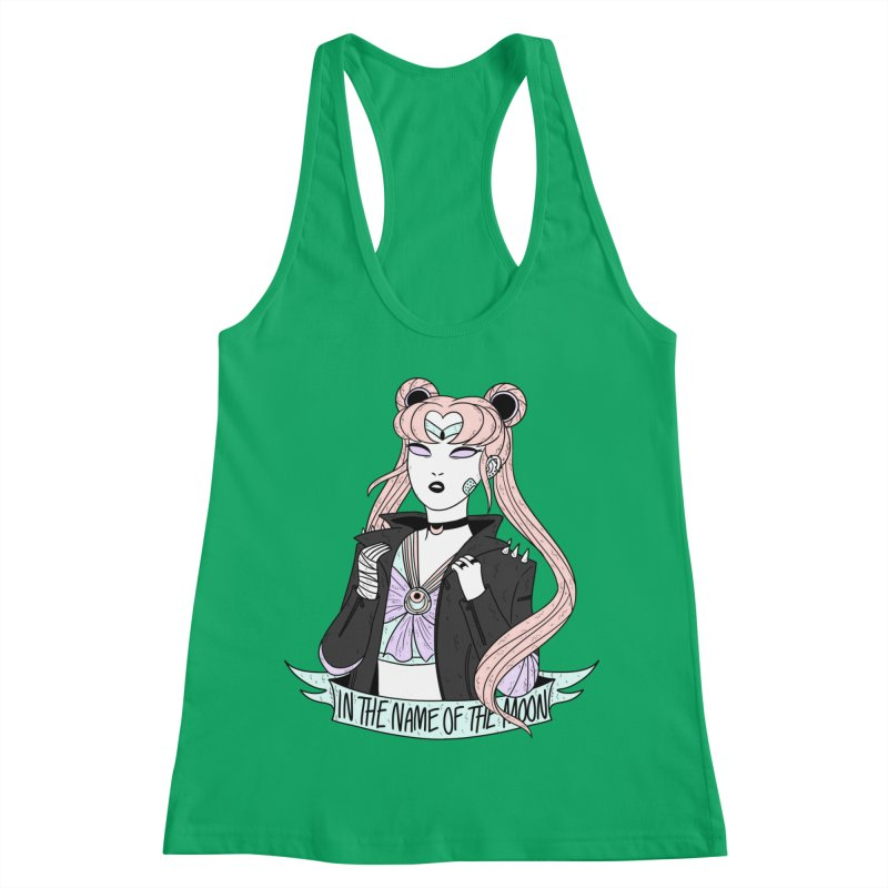 Pastel Goth Sailor Moon Women's Racerback Tank by ArtbyMoga Apparel Shop