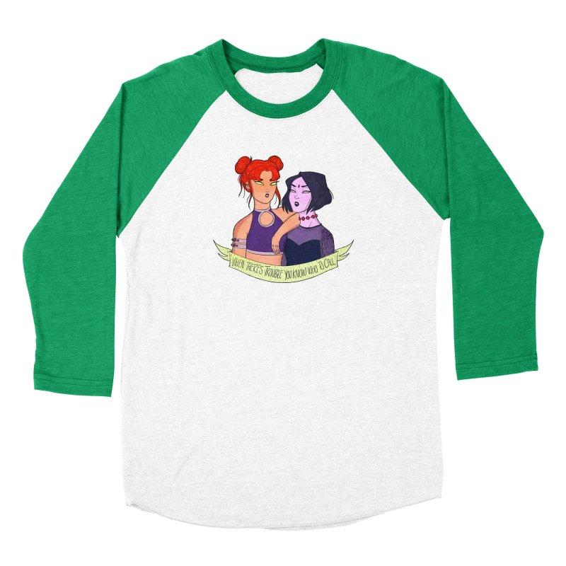 Teen Titans Women's Baseball Triblend Longsleeve T-Shirt by ArtbyMoga Apparel Shop