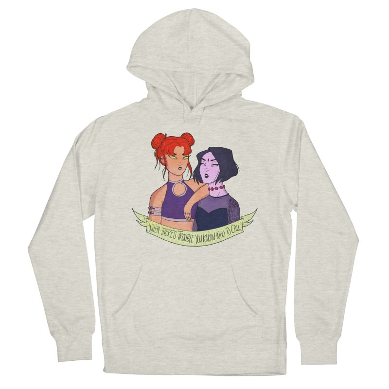 Teen Titans Women's French Terry Pullover Hoody by ArtbyMoga Apparel Shop