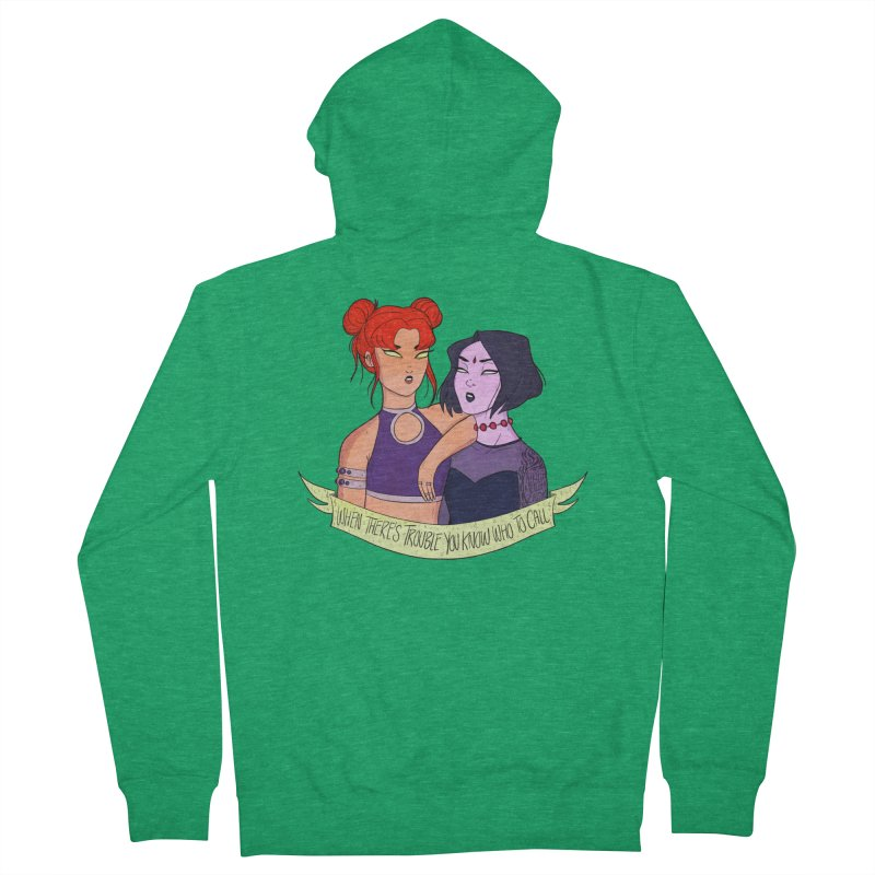 Teen Titans Men's French Terry Zip-Up Hoody by ArtbyMoga Apparel Shop