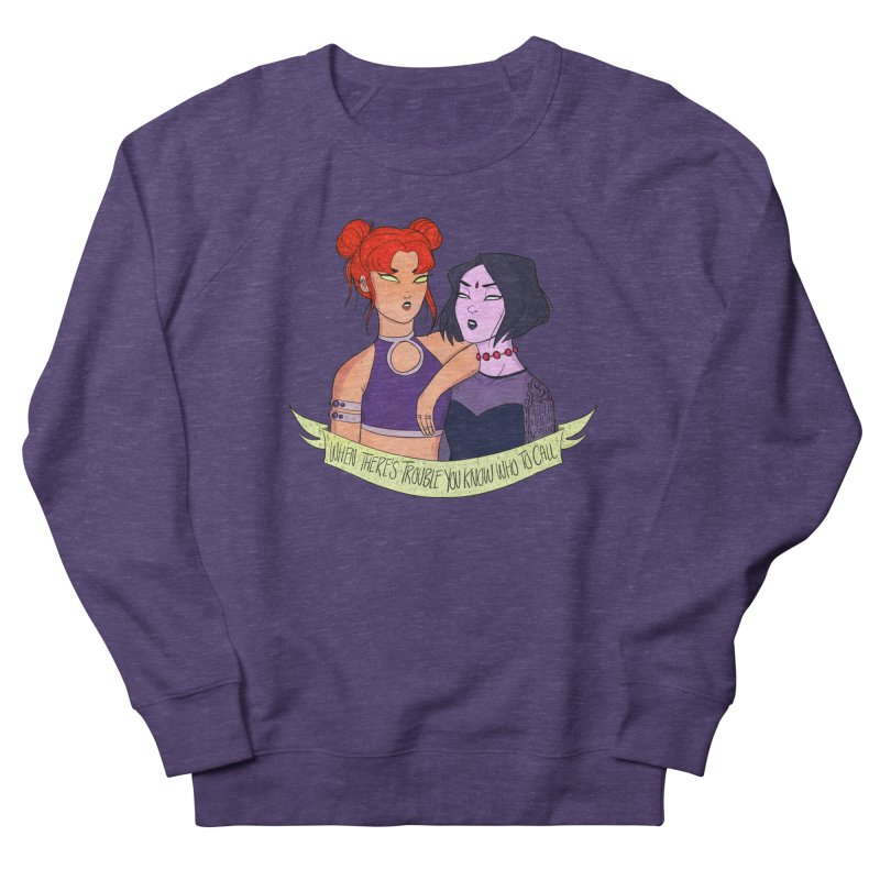 Teen Titans Women's French Terry Sweatshirt by ArtbyMoga Apparel Shop
