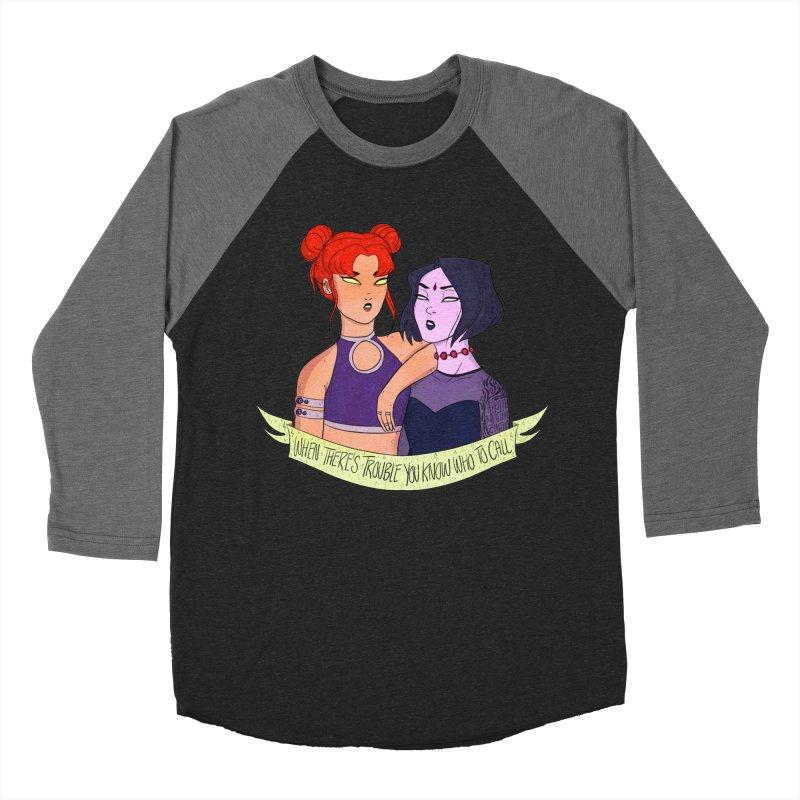 Teen Titans Men's Baseball Triblend Longsleeve T-Shirt by ArtbyMoga Apparel Shop