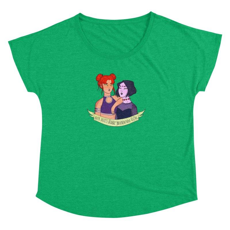 Teen Titans Women's Dolman Scoop Neck by ArtbyMoga Apparel Shop