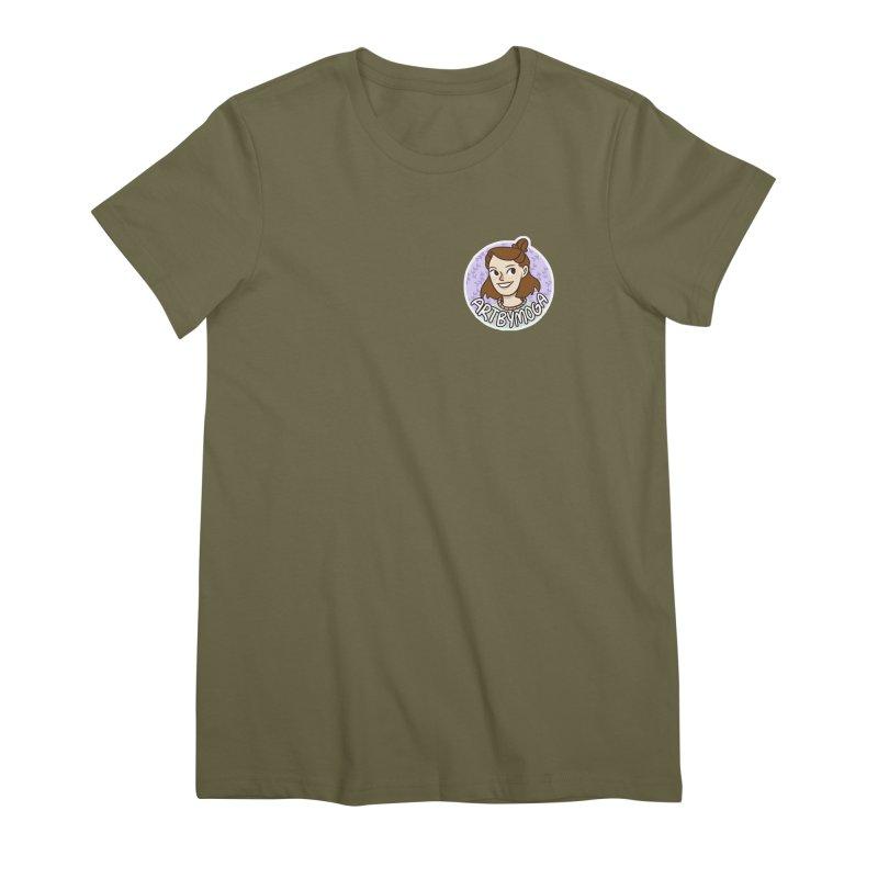 ArtbyMoga Logo Pocket Sized Women's Premium T-Shirt by ArtbyMoga Apparel Shop