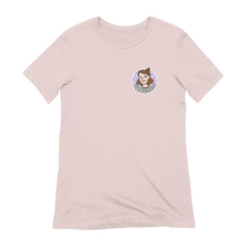 ArtbyMoga Logo Pocket Sized Women's Extra Soft T-Shirt by ArtbyMoga Apparel Shop