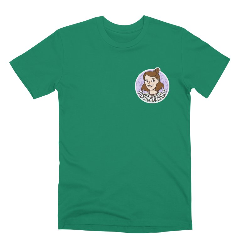 ArtbyMoga Logo Pocket Sized Men's Premium T-Shirt by ArtbyMoga Apparel Shop