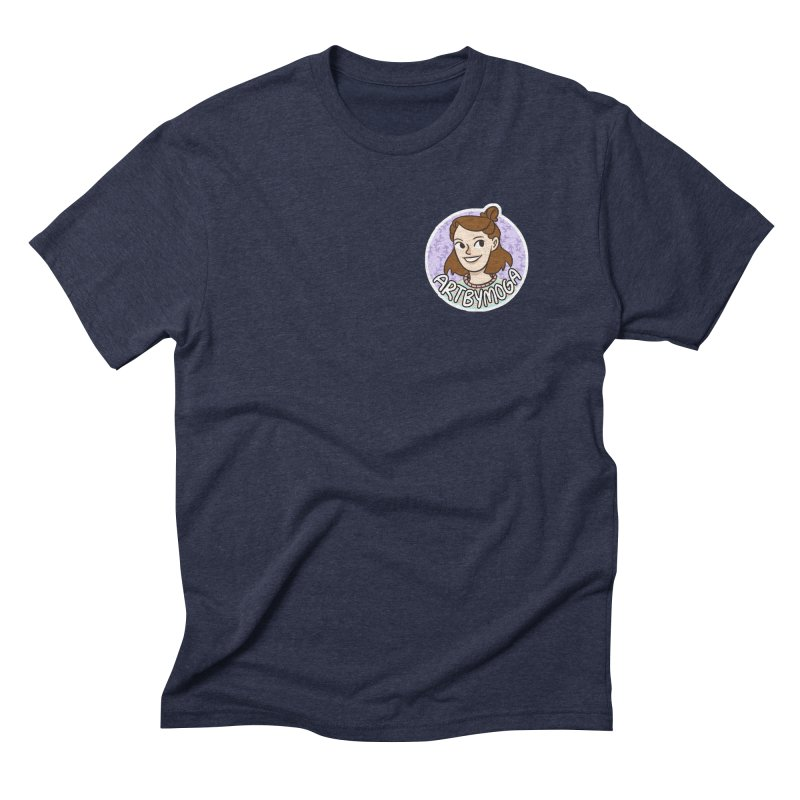 ArtbyMoga Logo Pocket Sized Men's Triblend T-Shirt by ArtbyMoga Apparel Shop
