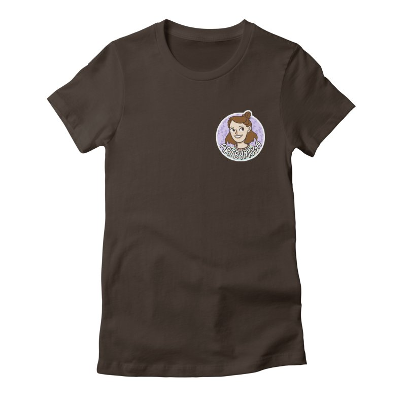 ArtbyMoga Logo Pocket Sized Women's Fitted T-Shirt by ArtbyMoga Apparel Shop