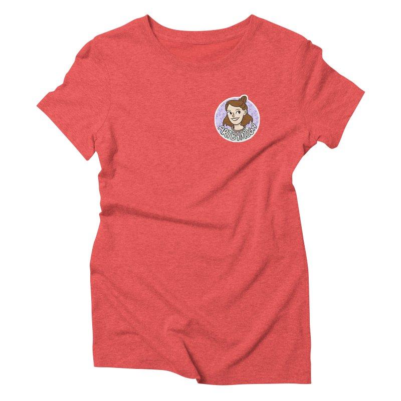 ArtbyMoga Logo Pocket Sized Women's Triblend T-Shirt by ArtbyMoga Apparel Shop