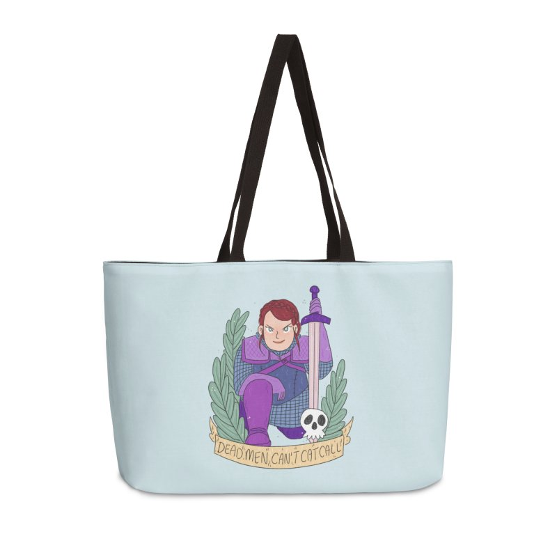 GRL PWR Knights Dead Men Accessories Weekender Bag Bag by ArtbyMoga Apparel Shop