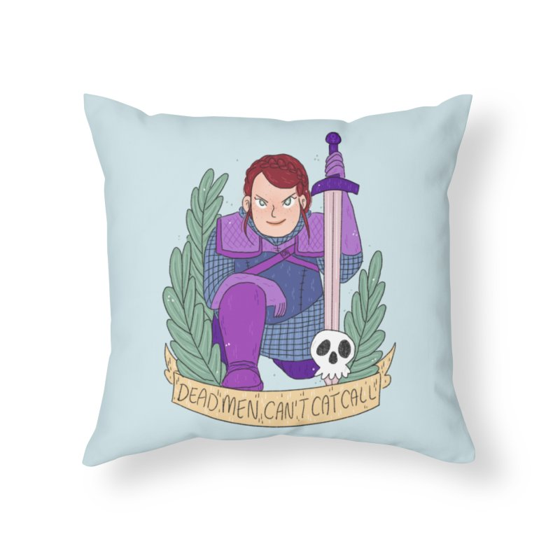 GRL PWR Knights Dead Men Home Throw Pillow by ArtbyMoga Apparel Shop