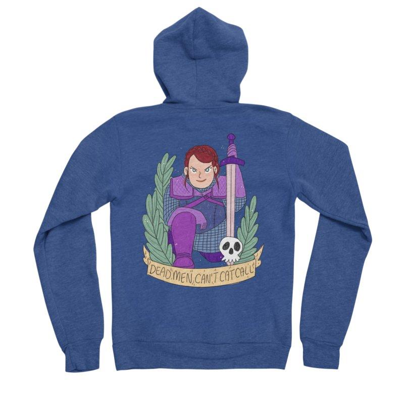 GRL PWR Knights Dead Men Women's Sponge Fleece Zip-Up Hoody by ArtbyMoga Apparel Shop