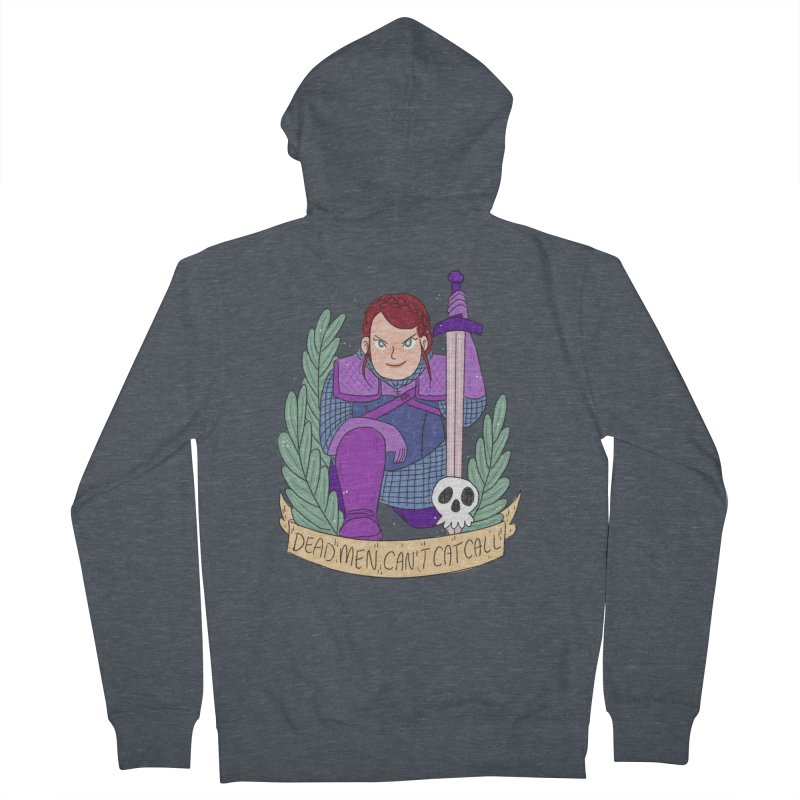 GRL PWR Knights Dead Men Women's French Terry Zip-Up Hoody by ArtbyMoga Apparel Shop