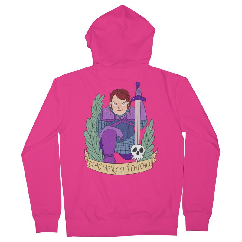 GRL PWR Knights Dead Men Men's French Terry Zip-Up Hoody by ArtbyMoga Apparel Shop