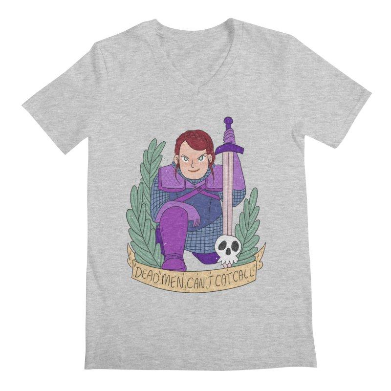 GRL PWR Knights Dead Men Men's Regular V-Neck by ArtbyMoga Apparel Shop