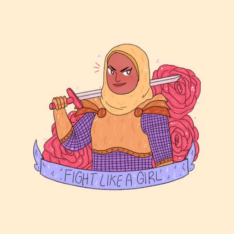 GRL PWR Knights Fight Like A Girl by ArtbyMoga Apparel Shop