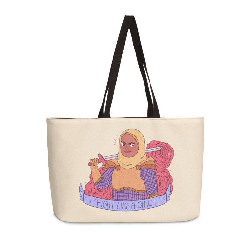 GRL PWR Knights Fight Like A Girl Accessories Weekender Bag Bag by ArtbyMoga Apparel Shop