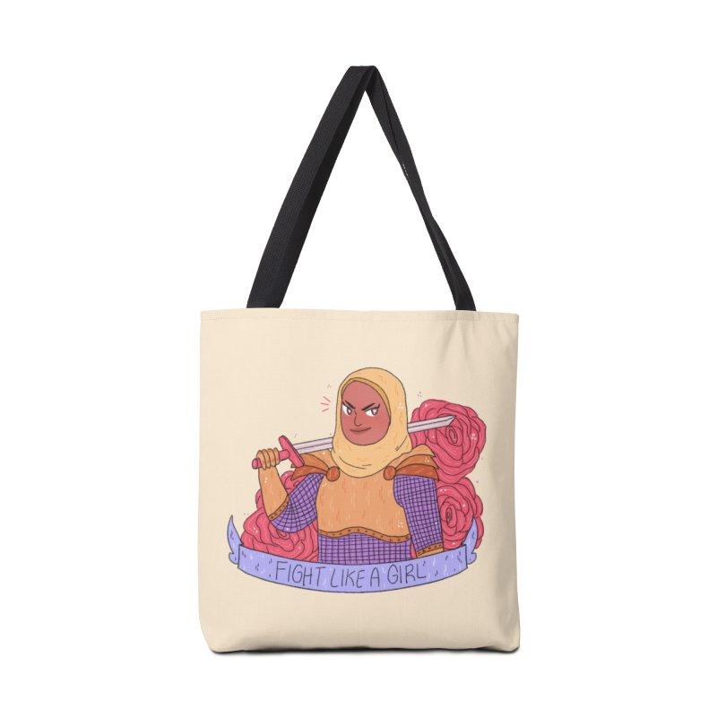 GRL PWR Knights Fight Like A Girl Accessories Bag by ArtbyMoga Apparel Shop