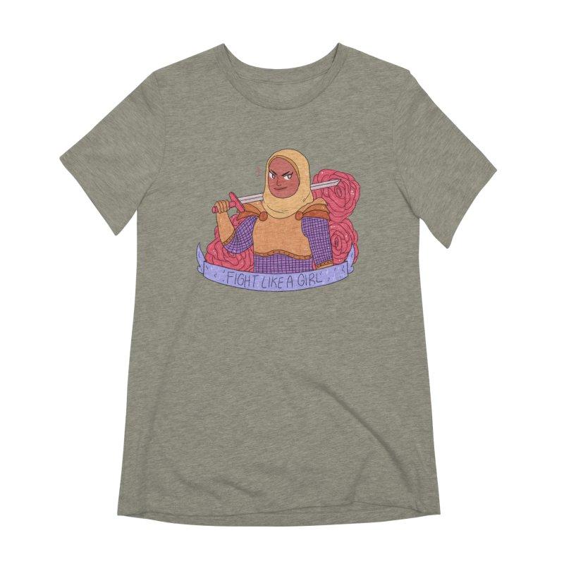 GRL PWR Knights Fight Like A Girl Women's Extra Soft T-Shirt by ArtbyMoga Apparel Shop