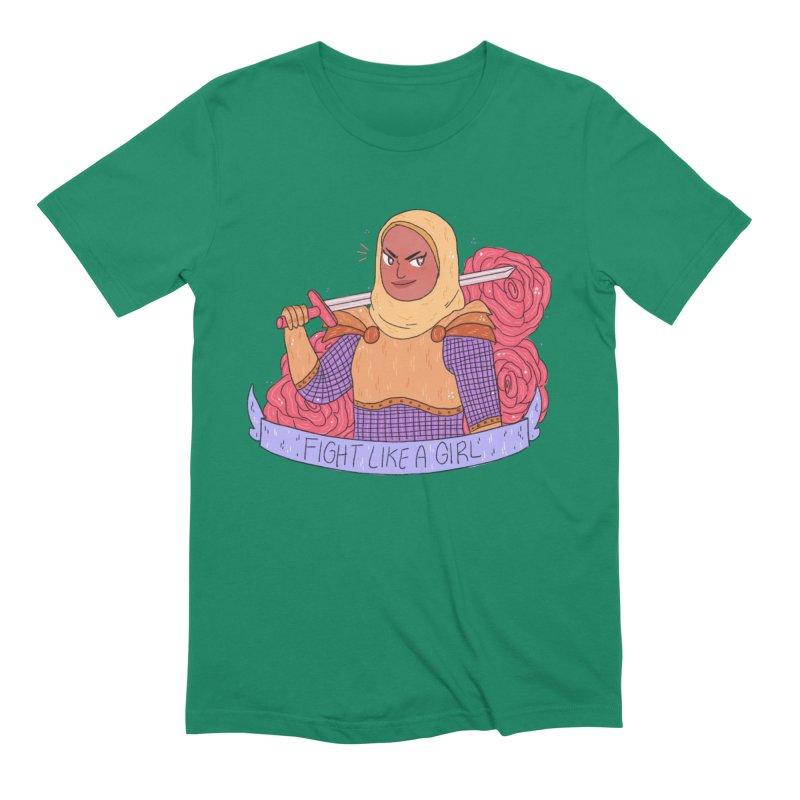 GRL PWR Knights Fight Like A Girl Men's Extra Soft T-Shirt by ArtbyMoga Apparel Shop