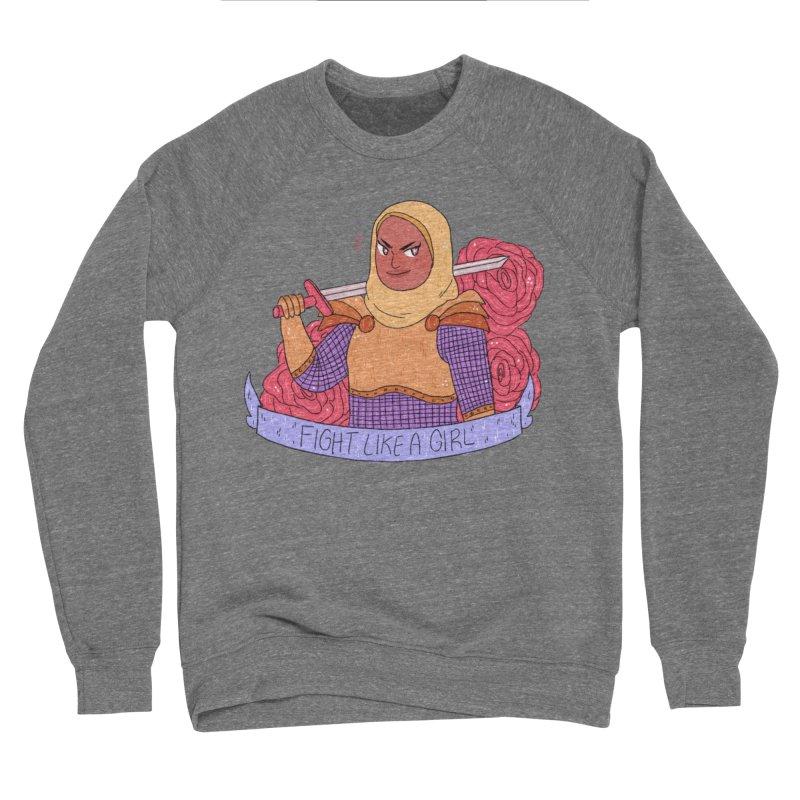 GRL PWR Knights Fight Like A Girl Women's Sponge Fleece Sweatshirt by ArtbyMoga Apparel Shop
