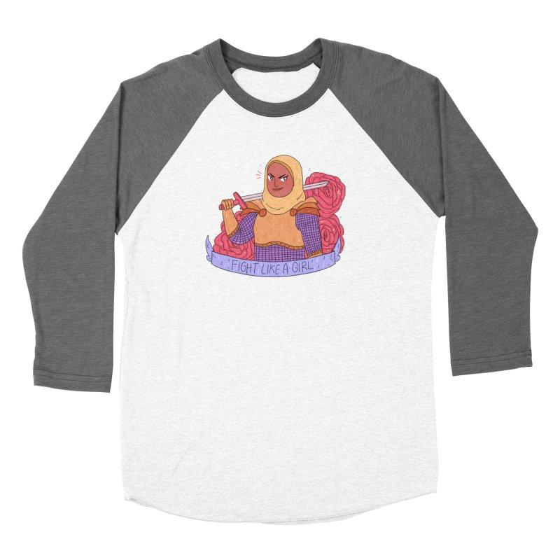 GRL PWR Knights Fight Like A Girl Women's Baseball Triblend Longsleeve T-Shirt by ArtbyMoga Apparel Shop