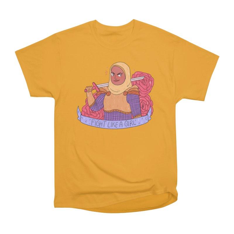 GRL PWR Knights Fight Like A Girl Women's Heavyweight Unisex T-Shirt by ArtbyMoga Apparel Shop