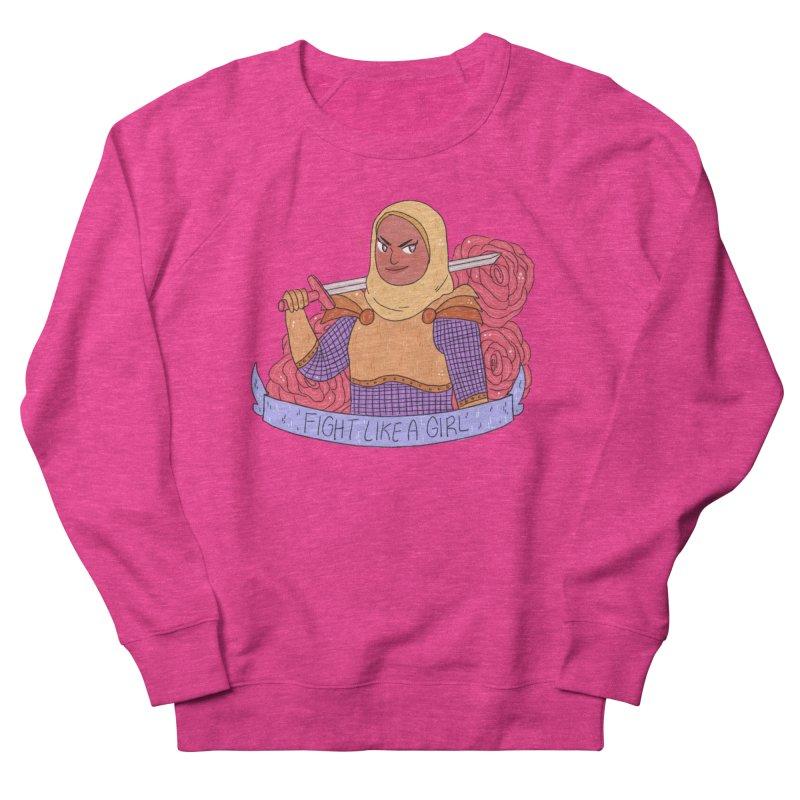 GRL PWR Knights Fight Like A Girl Women's French Terry Sweatshirt by ArtbyMoga Apparel Shop