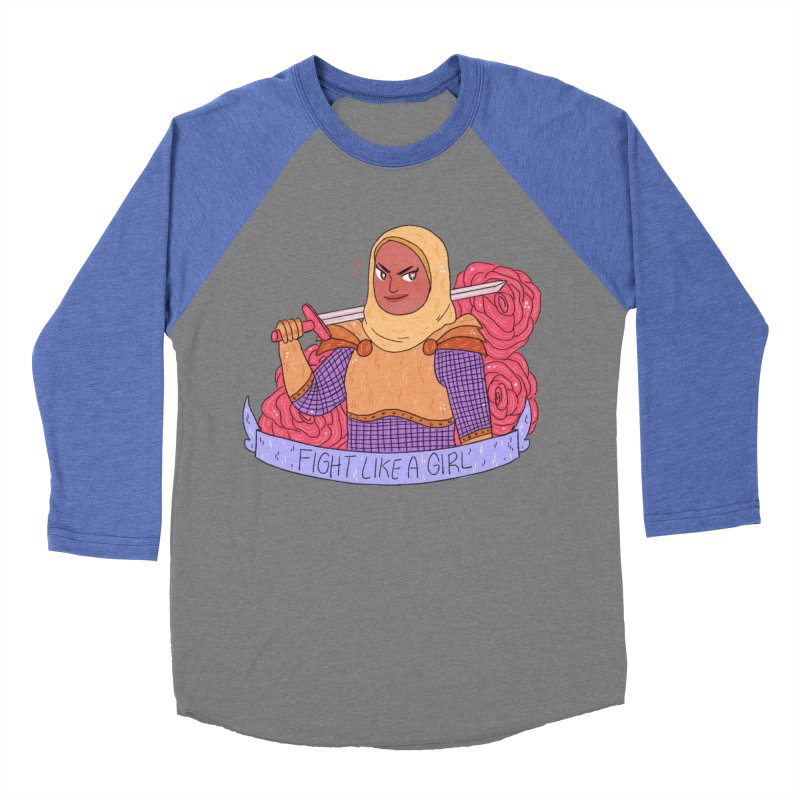 GRL PWR Knights Fight Like A Girl Men's Baseball Triblend Longsleeve T-Shirt by ArtbyMoga Apparel Shop