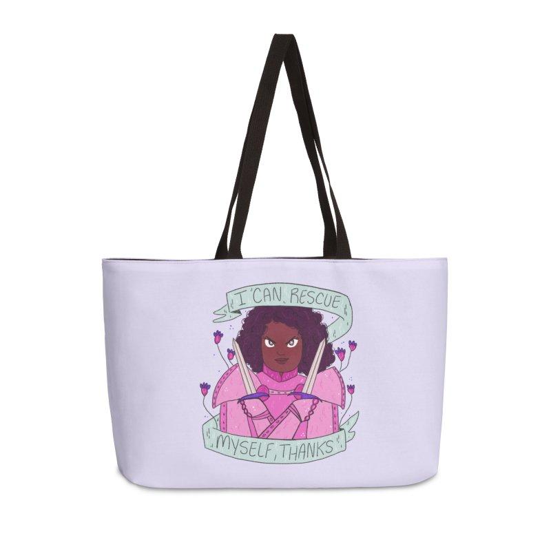 GRL PWR Knights Rescue Myself Accessories Weekender Bag Bag by ArtbyMoga Apparel Shop