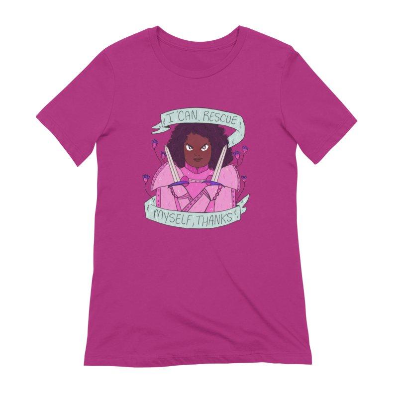 GRL PWR Knights Rescue Myself Women's Extra Soft T-Shirt by ArtbyMoga Apparel Shop