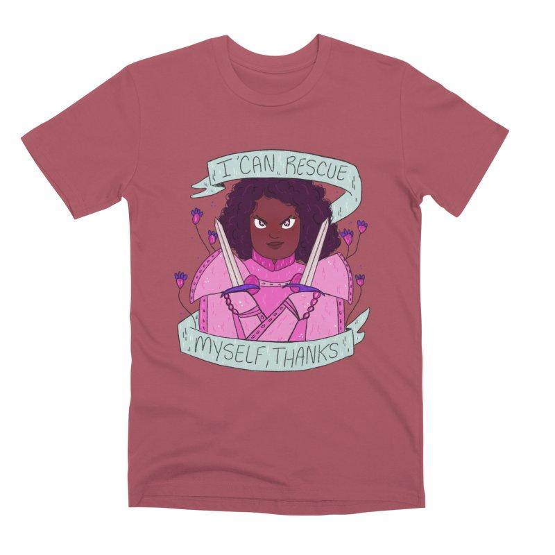 GRL PWR Knights Rescue Myself Men's Premium T-Shirt by ArtbyMoga Apparel Shop