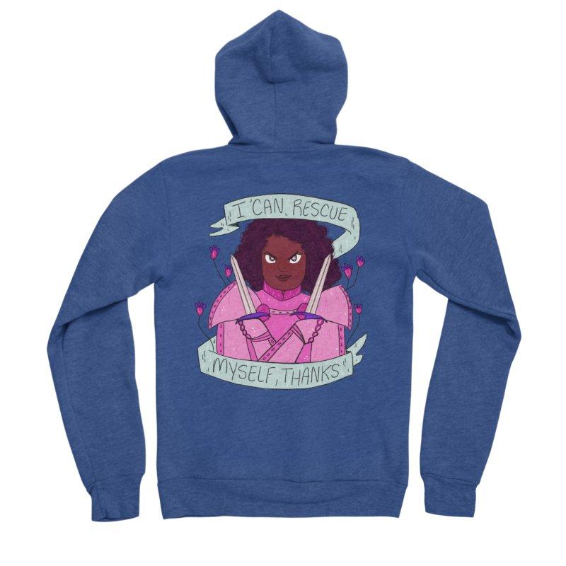 GRL PWR Knights Rescue Myself Women's Sponge Fleece Zip-Up Hoody by ArtbyMoga Apparel Shop