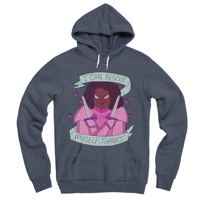 GRL PWR Knights Rescue Myself Men's Sponge Fleece Pullover Hoody by ArtbyMoga Apparel Shop