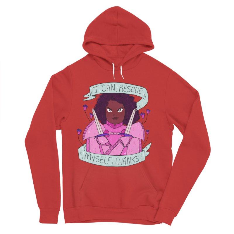 GRL PWR Knights Rescue Myself Women's Pullover Hoody by ArtbyMoga Apparel Shop