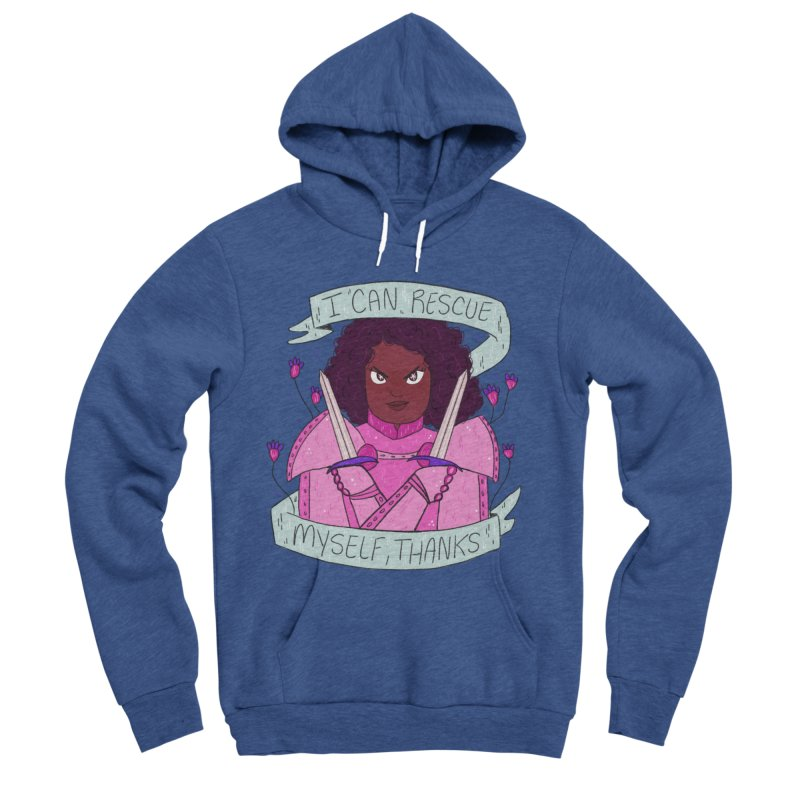 GRL PWR Knights Rescue Myself Women's Sponge Fleece Pullover Hoody by ArtbyMoga Apparel Shop