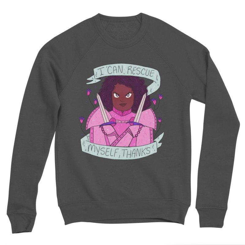GRL PWR Knights Rescue Myself Men's Sponge Fleece Sweatshirt by ArtbyMoga Apparel Shop