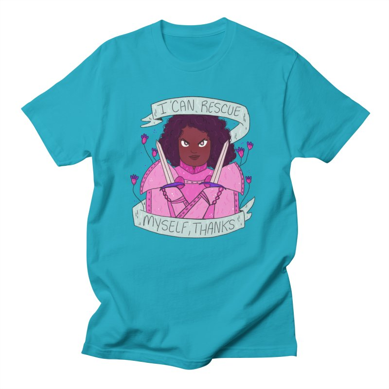 GRL PWR Knights Rescue Myself Men's T-Shirt by ArtbyMoga Apparel Shop