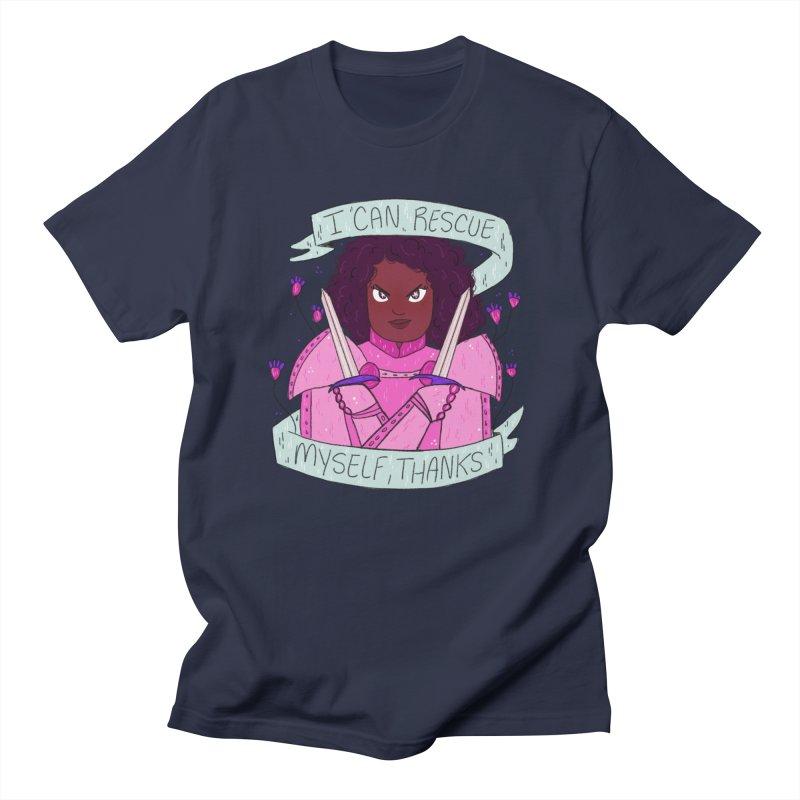 GRL PWR Knights Rescue Myself Women's Regular Unisex T-Shirt by ArtbyMoga Apparel Shop