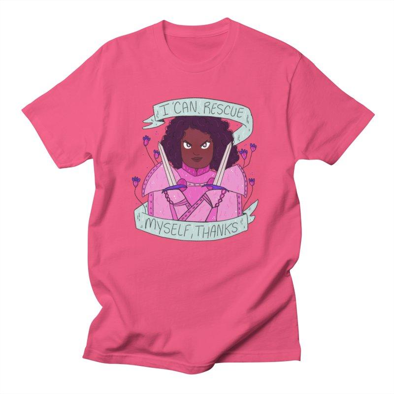 GRL PWR Knights Rescue Myself Men's Regular T-Shirt by ArtbyMoga Apparel Shop