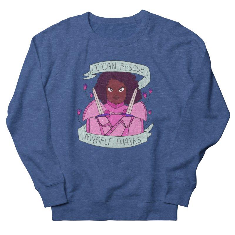 GRL PWR Knights Rescue Myself Women's French Terry Sweatshirt by ArtbyMoga Apparel Shop