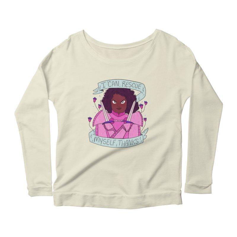 GRL PWR Knights Rescue Myself Women's Scoop Neck Longsleeve T-Shirt by ArtbyMoga Apparel Shop