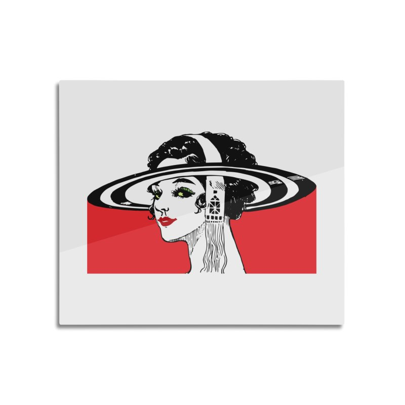 Brim Hat Women Home Mounted Acrylic Print by Artdrips's Artist Shop