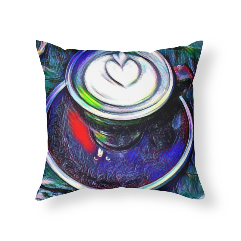Coffe Cup Midnight Blue Home Throw Pillow by Artdrips's Artist Shop