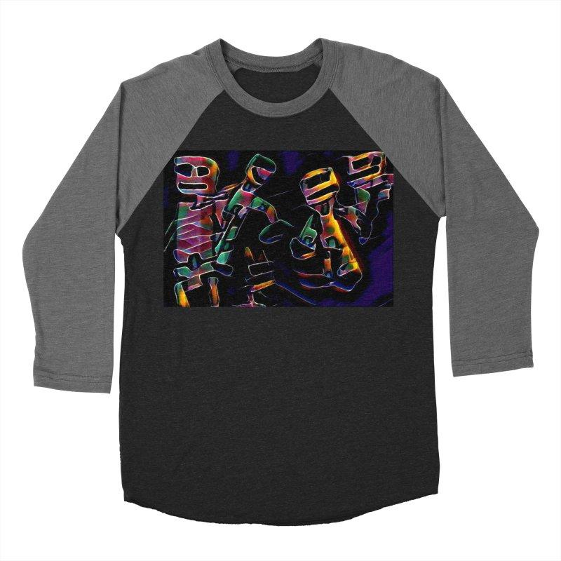 Neon Robots Women's Baseball Triblend Longsleeve T-Shirt by Artdrips's Artist Shop