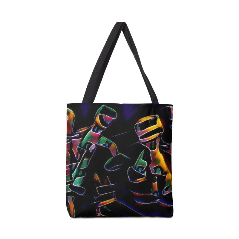 Neon Robots Accessories Bag by Artdrips's Artist Shop